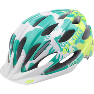Велошлем GIRO Велошлем RAZE Turquoise Lime Floral-photo